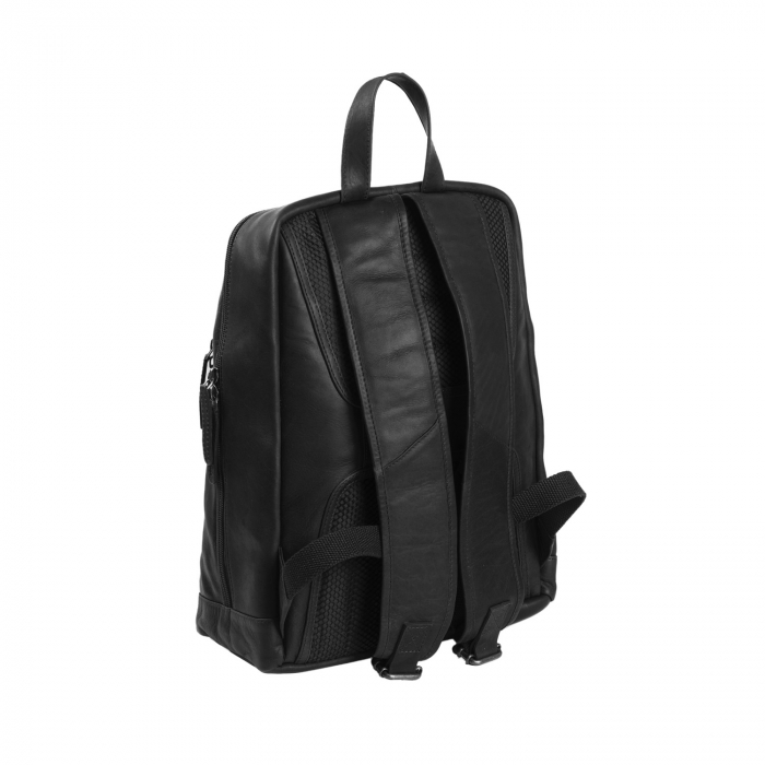 Rucsac pentru laptop de 14 inch, The Chesterfield Brand, din piele neagra, model James [3]