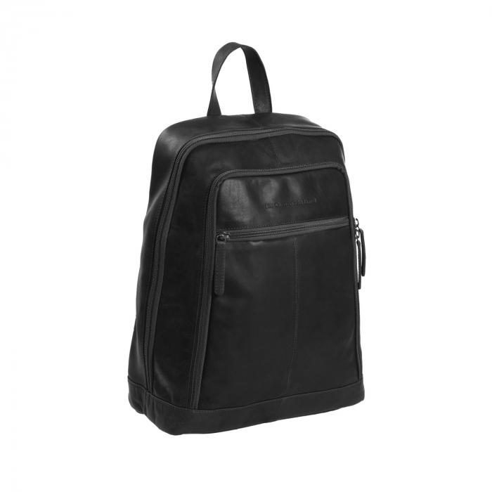 Rucsac pentru laptop de 14 inch, The Chesterfield Brand, din piele neagra, model James [0]