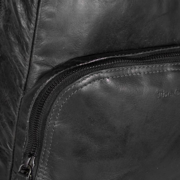 Rucsac pentru laptop de 15,4 inch si tableta, The Chesterfield Brand, din piele, model Mack, Negru [4]