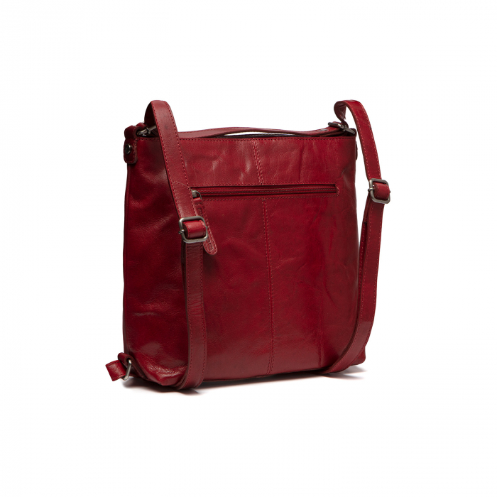 Rucsac si geanta 2 in 1, din piele naturala, The Chesterfield Brand, Naples, Rosu [1]