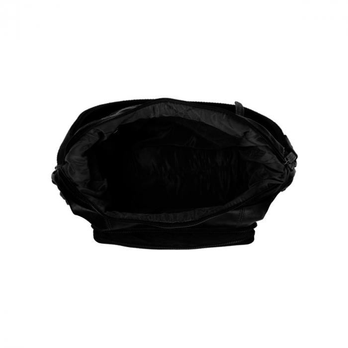 Rucsac si geanta 2 in 1, The Chesterfield Brand, piele naturala moale, Vajen, Negru [2]