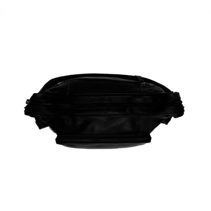 Rucsac si geanta 2 in 1, The Chesterfield Brand, piele naturala moale, Vajen, Negru [3]