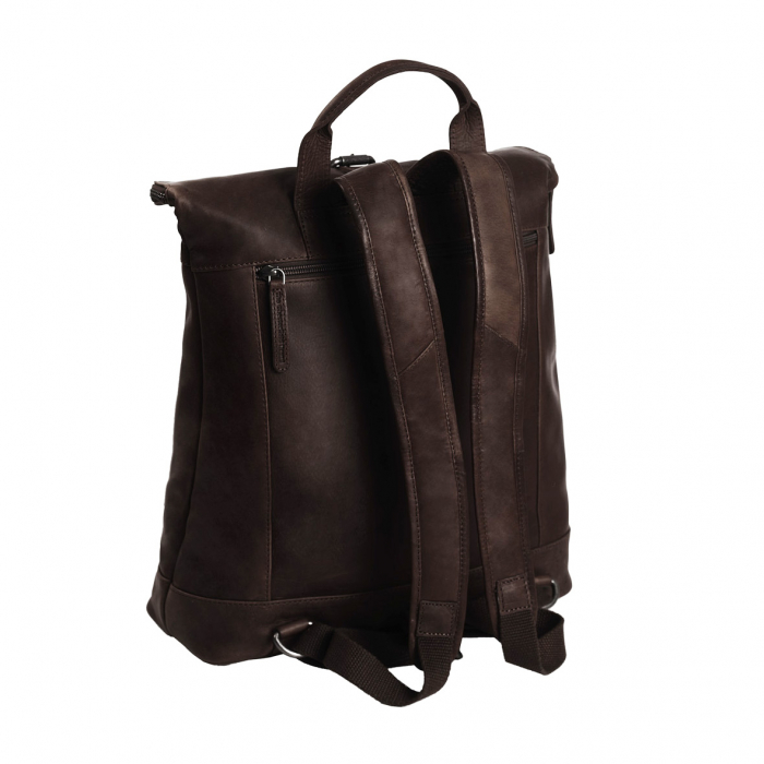 Rucsac The Chesterfield Brand din piele moale maro, Dali [5]