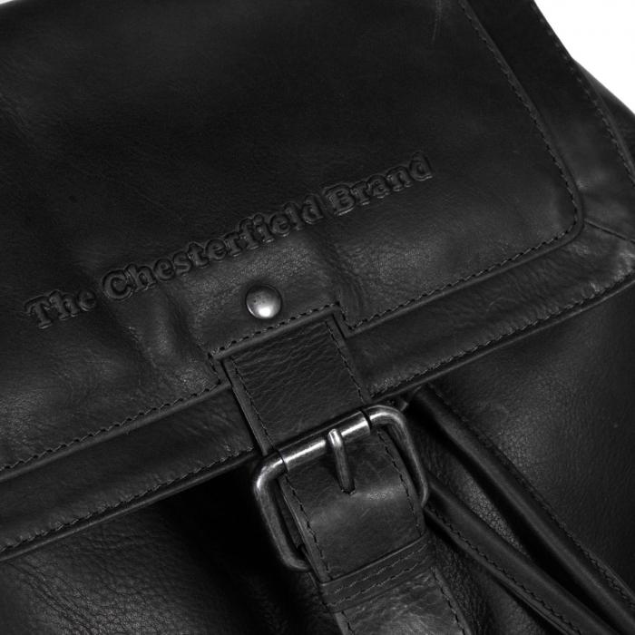 Rucsac The Chesterfield Brand din piele moale, Joey, Negru [5]