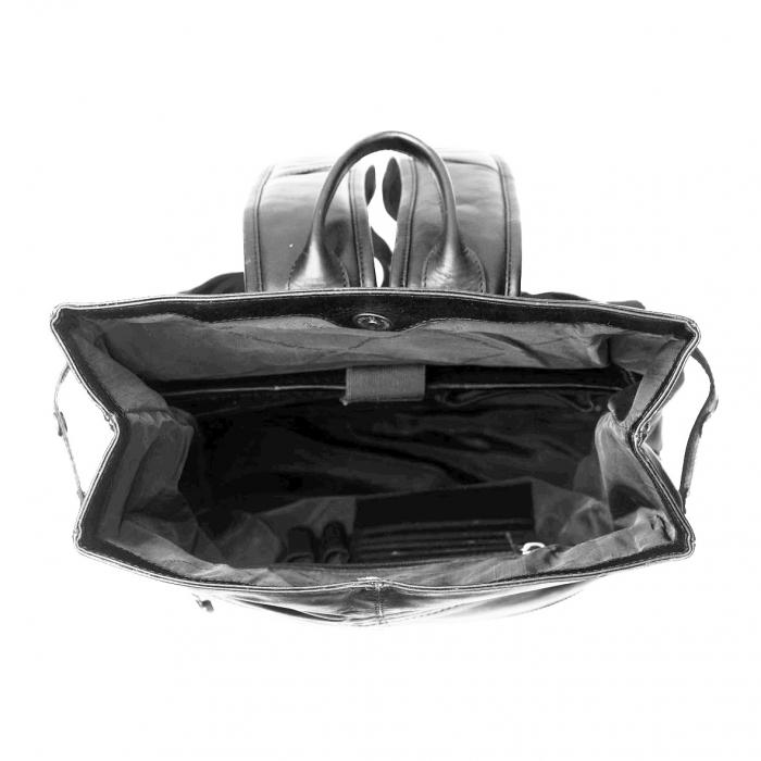 Rucsac The Chesterfield Brand, Graz din piele , cu compartiment pentru laptop de 15 inch, Negru [2]