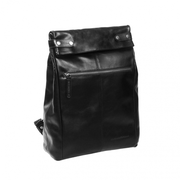 Rucsac The Chesterfield Brand, Graz din piele , cu compartiment pentru laptop de 15 inch, Negru [0]