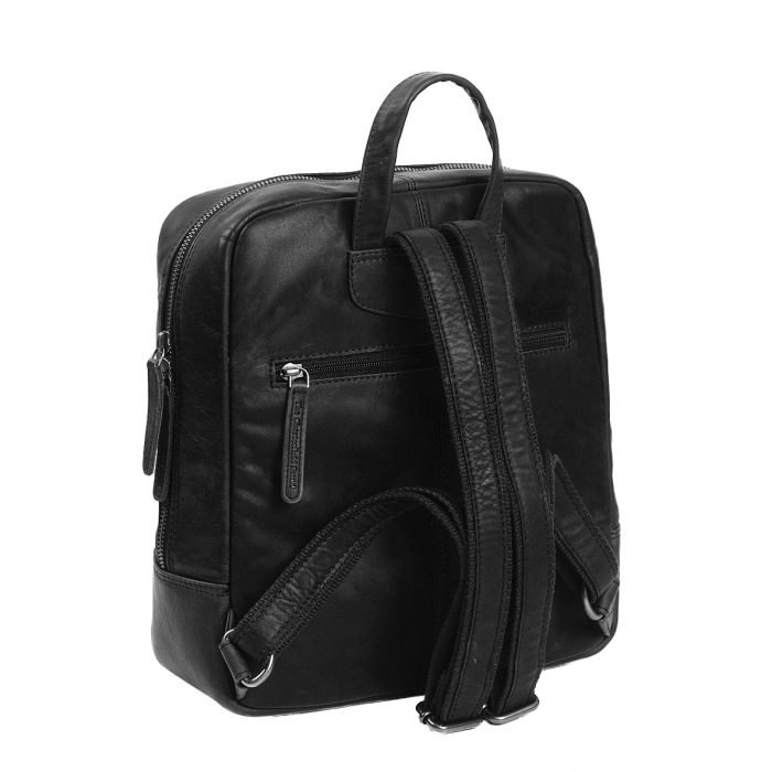 Rucsac unisex The Chesterfield Brand din piele moale, Layla, Negru [4]