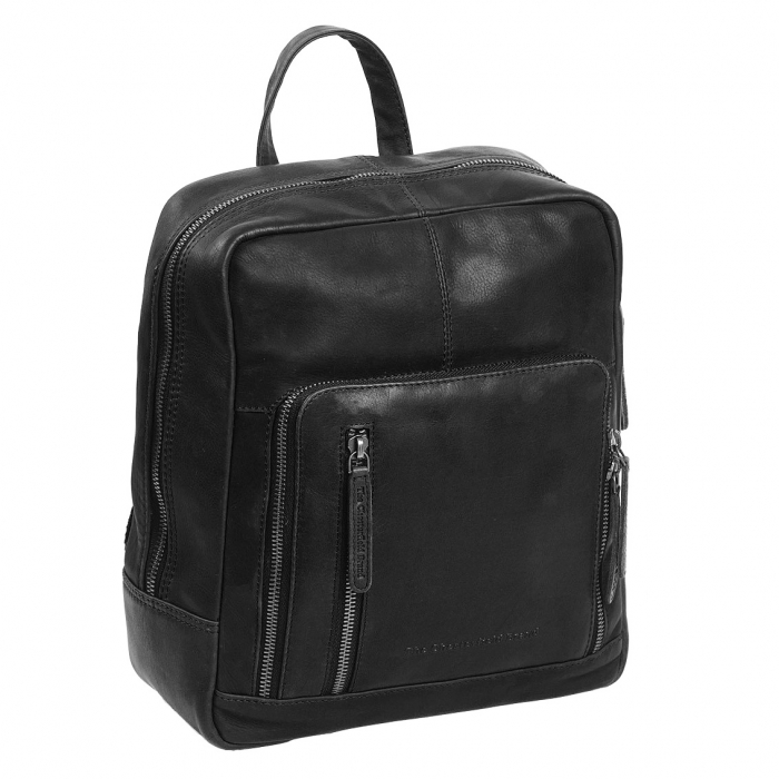 Rucsac unisex The Chesterfield Brand din piele moale, Layla, Negru [0]