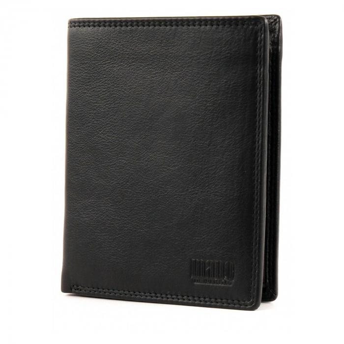 Set cadou pentru barbati cu portofel si breloc pentru chei, din piele, Mano, model M19030 Negru [1]