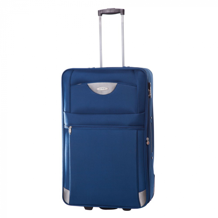 Troler mare ATLANTA albastru 74 cm [0]