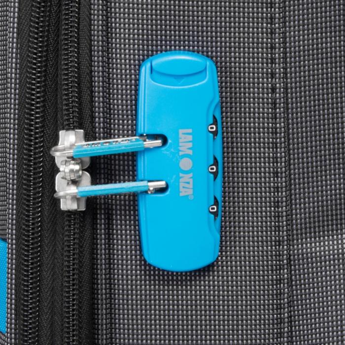Troler mediu DORTMUND gri cu albastru 63 cm [3]