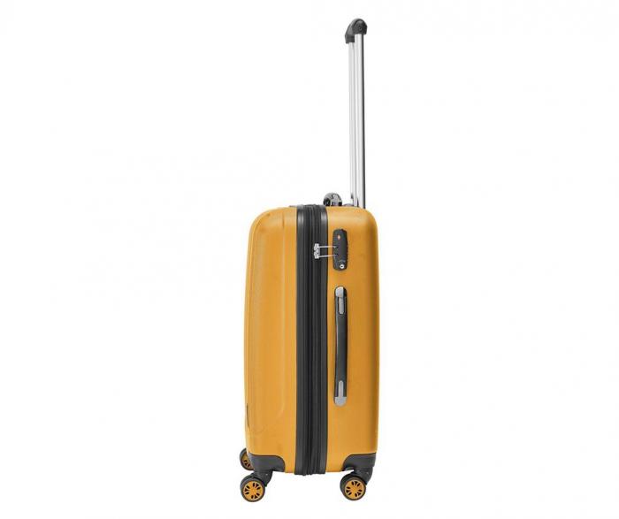 Troler mediu Packenger Velvet galben mustar 62 cm [1]