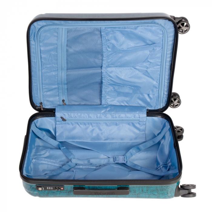 Troler mediu  REGAL albastru turcoaz 66 cm [4]