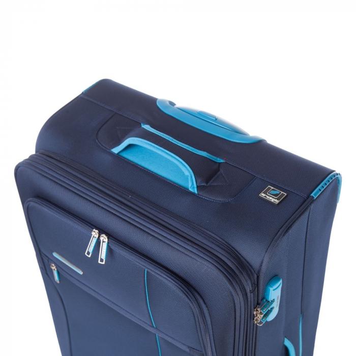 Troler mediu  ULTRALIGHT albastru inchis cu turcoaz 67 cm [4]
