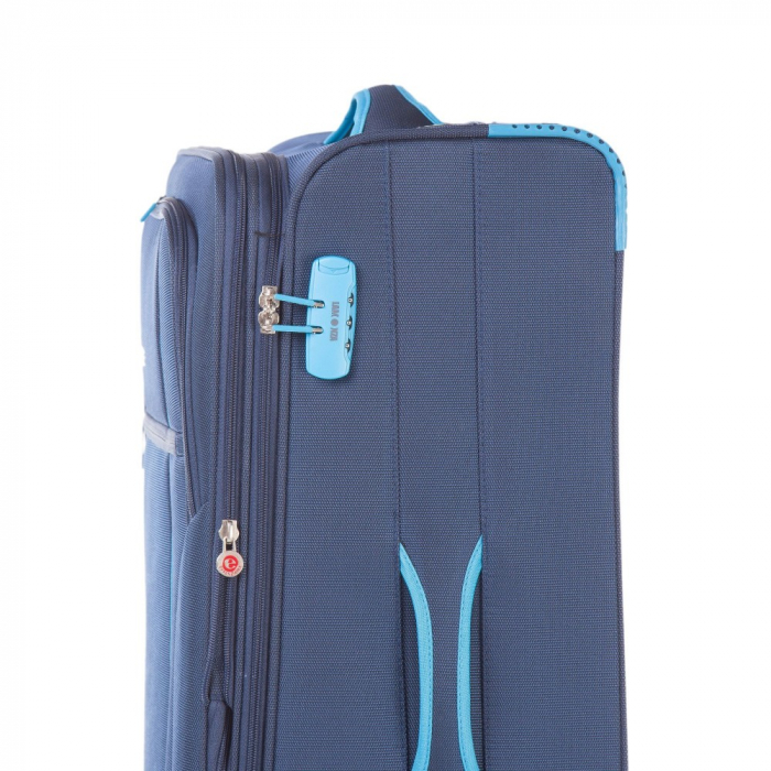 Troler mediu  ULTRALIGHT albastru inchis cu turcoaz 67 cm [2]
