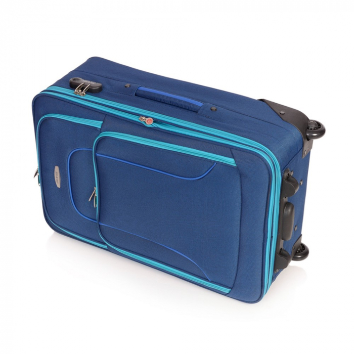 Troler mediu VISION albastru cu turcoaz 64 cm [4]