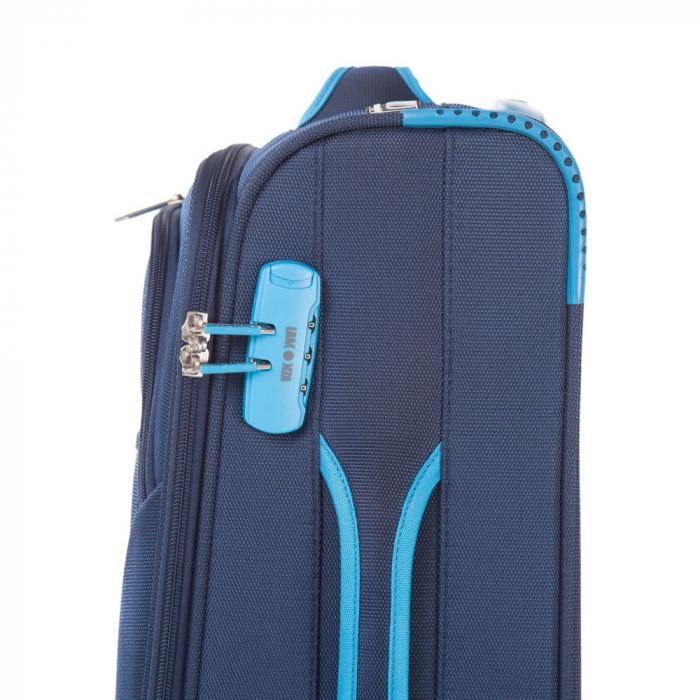 Troler mic  ULTRALIGHT albastru inchis cu turqoise 55 cm [2]