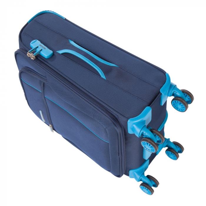 Troler mic  ULTRALIGHT albastru inchis cu turqoise 55 cm [4]