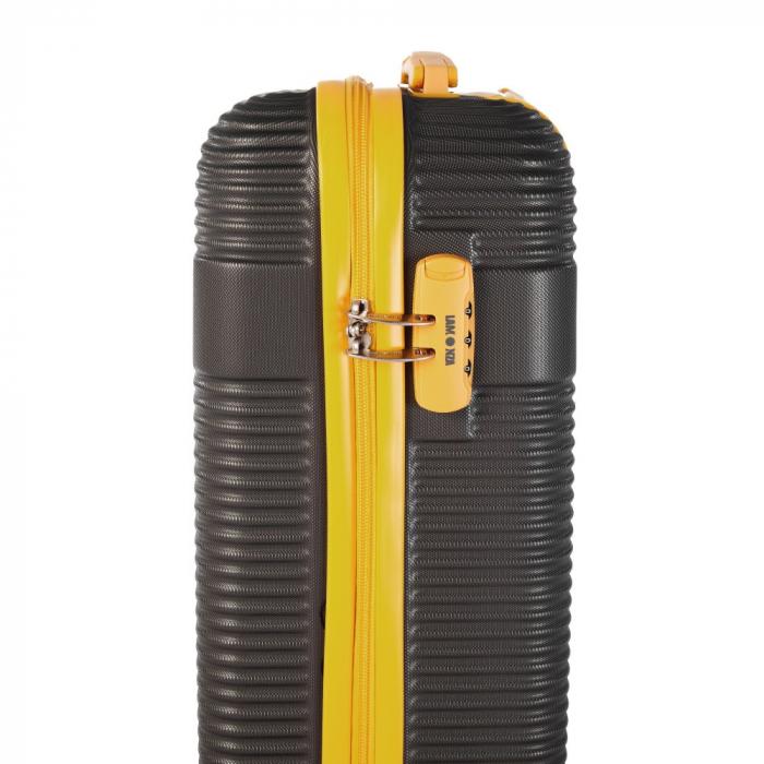 Troler mic UPTOWN negru cu galben 55 cm [3]