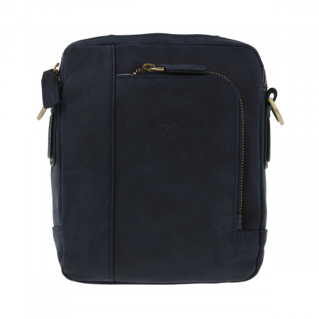 Borseta bleumarin din piele vintage, model de umar T5154, marca Tony Bellucci [1]