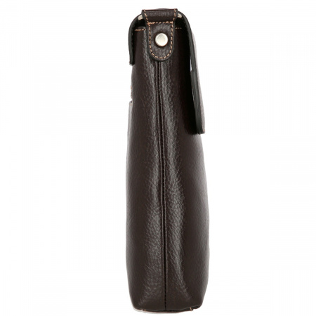 Borseta casual maro inchis din piele moale, model cu capac 055 [3]
