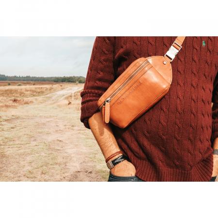 Borseta (marsupiu) de brau din piele naturala, The Chesterfield Brand, Ramiro Negru [12]