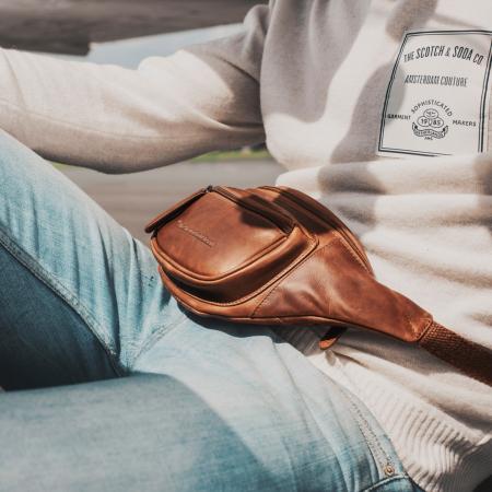 Borseta (marsupiu) de brau The Chesterfield Brand, din piele, model Jack, Maro coniac [1]