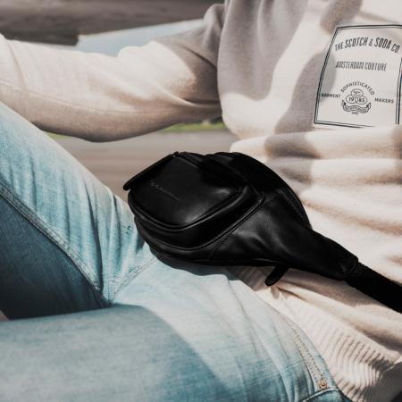 Borseta (marsupiu) de brau The Chesterfield Brand, din piele, model Jack, Negru [1]