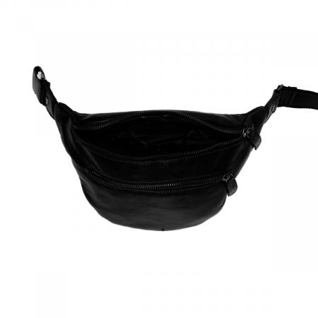 Borseta (marsupiu) de brau, unisex The Chesterfield Brand, piele naturala, Paxton, Negru [2]