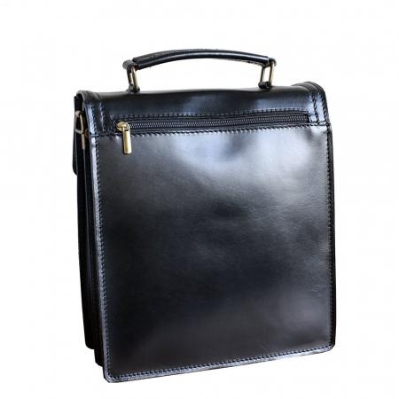 Borseta office din piele neagra model B102 [1]
