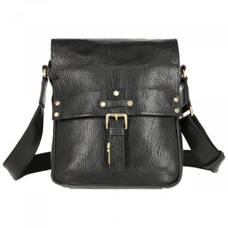 Borseta tip geanta de umar, din piele naturala neagra, model Tony Bellucci T5130 [2]