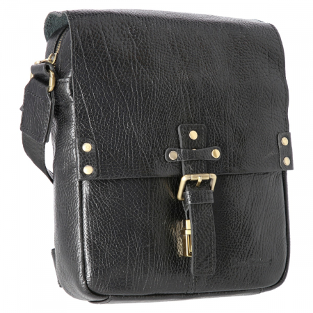 Borseta tip geanta de umar, din piele naturala neagra, model Tony Bellucci T5130 [0]