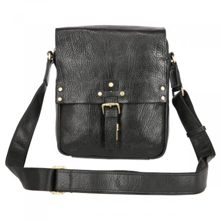 Borseta tip geanta de umar, din piele naturala neagra, model Tony Bellucci T5130 [3]