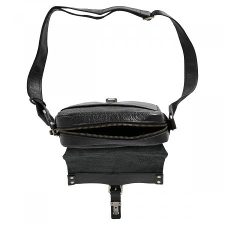 Borseta tip geanta de umar, din piele naturala neagra, model Tony Bellucci T5130 [6]