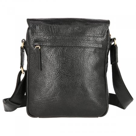 Borseta tip geanta de umar, din piele naturala neagra, model Tony Bellucci T5130 [4]