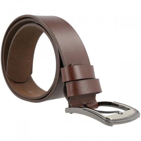 Curea lata pentru blugi si pantaloni casual, din piele moale maro, 7140 marca Eminsa [1]