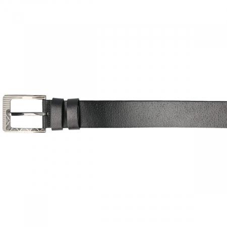 Curea lata pentru blugi si pantaloni casual din piele neagra, marca Eminsa [2]