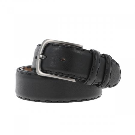 Curea lata pentru blugi si pantaloni casual din piele neagra, model CB01 [0]