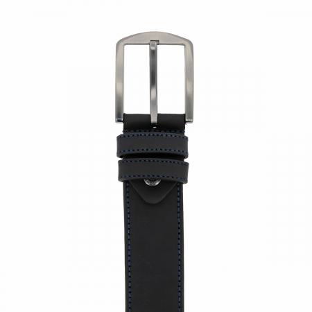 Curea pentru blugi si pantaloni casual, bleumarin din piele nubuck, Tony Bellucci model 73008 [1]
