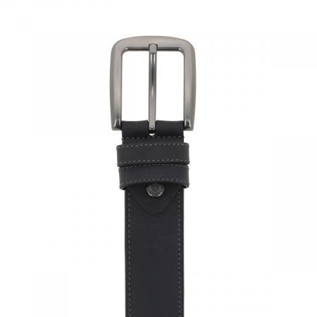 Curea pentru blugi si pantaloni casual, gri antracit din piele nubuck, Tony Bellucci model 73007 [1]