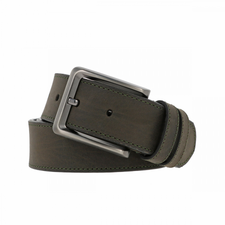 Curea pentru blugi si pantaloni casual, kaki din piele nubuck, Tony Bellucci model 73006 [0]