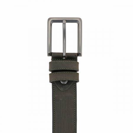 Curea pentru blugi si pantaloni casual, kaki din piele nubuck, Tony Bellucci model 73006 [2]