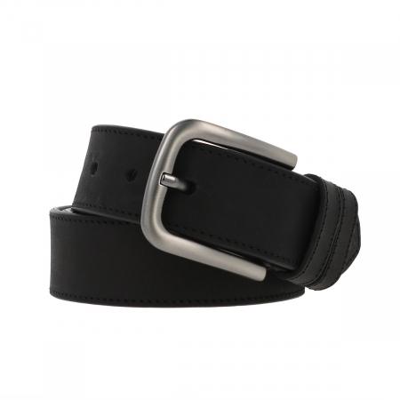 Curea pentru blugi si pantaloni casual, neagra din piele nubuck, Tony Bellucci model 73000 [0]