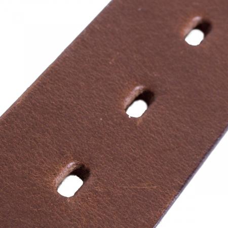Curea The Chesterfield Brand pentru blugi, din piele naturala maro coniac, Brandon [3]