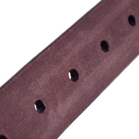 Curea The Chesterfild Brand, din piele nubuck maro, pentru pantaloni casual, Levi [3]