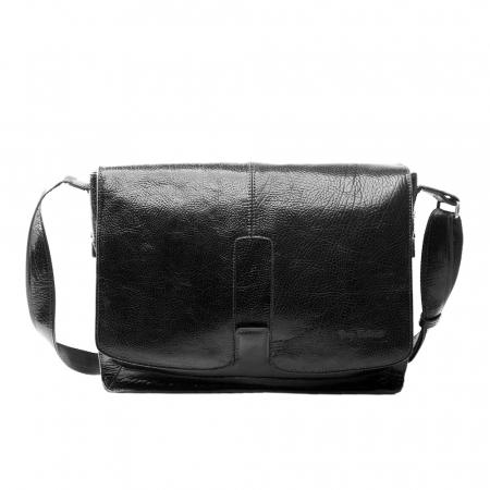 Geanta barbati Tony Bellucci pentru laptop si tableta, din piele naturala neagra T5057 [1]