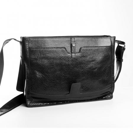 Geanta barbati Tony Bellucci pentru laptop si tableta, din piele naturala neagra T5057 [2]