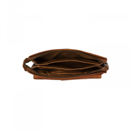 Geanta borseta barbati, The Chesterfield Brand, din piele naturala, de mana si umar, Evelyn Maro coniac [4]