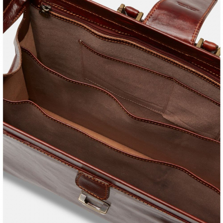 Geanta business tip doctor, din piele vachetta maro coniac, 4521 [4]