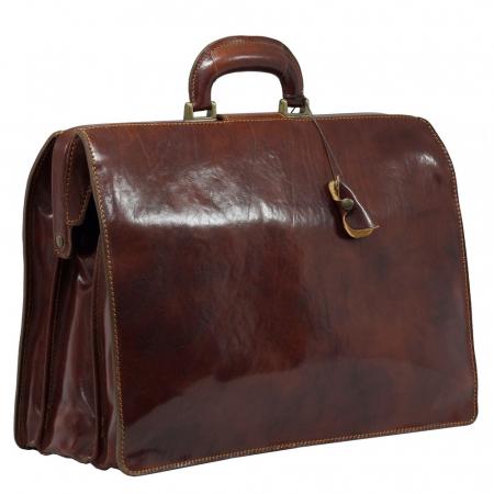 Geanta business tip doctor, din piele vachetta maro coniac, 4521 [2]